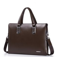 SAMMONS Real leather men business bag Coffee