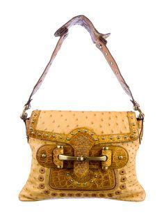 Gucci Ostrich Pelham Flap Bag