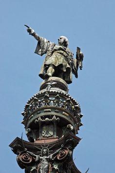 Columbus pointing toward the new world ~ Barcelona ~ La Rambla