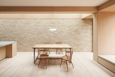 erbar mattes wraps london home in soft wood and dusty brick