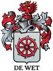 The de Wet Family Family Crest, Afrikaans, Rooster, Projects, Animals, Charms, Log Projects, Blue Prints, Animales