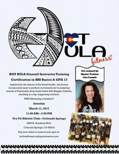 HOT HULA fitness® instructor training, March 11, 2017 in Colorado! Sign up today!  https://www.facebook.com/events/341945329534582/