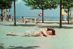 strand. My Way, Hungary, Bikinis, Swimwear, Ohio, Landscape, Vintage, Tin Cans, Bathing Suits