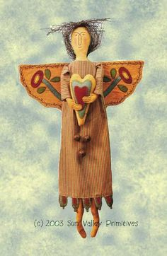 Primitive Pattern E Pattern PDF Folk Art Angel.