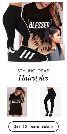 """""""Untitled #2230"""" by kayla77johnson on Polyvore featuring adidas"""