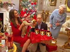 Prince George as a Reindeer! Imagining William & Kate's First Christmas as Parents - Christmas, The British Royals, The Royals, Camilla Parker Bowles, Kate Middleton, Prince Charles, Prince George, Prince Harry, Prince William, Queen Elizabeth II : People.com