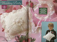 Hooked on Crochet 43 1994 Crochet ring bearer pillow pattern, wedding crochet