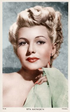 Love this color combination. Rita Hayworth