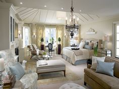 in an ideal world, Candice Olson would have designed this master bedroom in MY home. Old World French is the first prong of my style