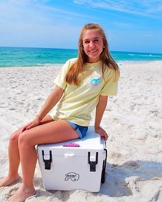 Can't get enough of salt water, sand and Southern Girl Prep...shop link in profile for more!!! ☀️ #sgpsummeradventures | t-shirt and sticker