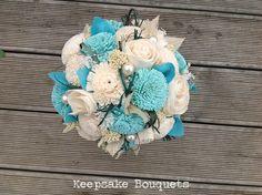 Duck blue solar flowers Flax Flowers, Wedding Flowers, Wedding Day, Bouquets, Grass, Solar, Floral Wreath, Wreaths, Pearls