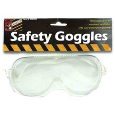 Sterling Travel Eyewear Safety Equipment Youth Protective Resistant Clear Goggles 24 Pack