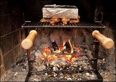 Cook it in the fireplace - lots of tips esp. on page 2