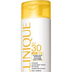 25€  De beste zonnebescherming volgens Goed Gevoel -, Clinique - Mineral Sunscreen Lotion for Body SPF 30 | Happy Fall - trekt snel in - niet vet - geen witte waas