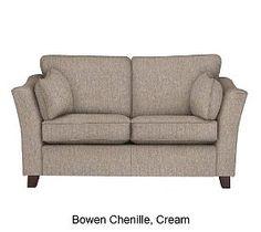 Fenton sofa in Bowen chenille Cream M Small Sofa, Love Seat, Room Ideas, Couch, Cream, Living Room, Furniture, Home Decor, Small Couch