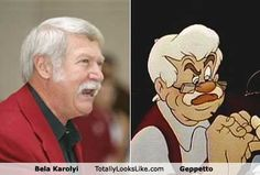 LOL bela karolyi & geppetto - separated at birth