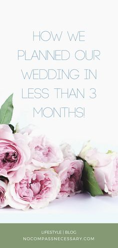 Planning a wedding soon? Check out how we planned our wedding in less than 3 months. FREE WEDDING PLANNER INCLUDED!!