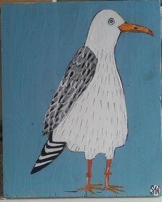 gull   by sally_wolfe_ Bird Drawings, Animal Drawings, Pigeon, Seaside Art, Bird Illustration, Illustrations, Jr Art, Chicken Art, Abstract Animals
