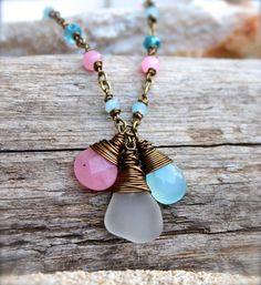 Sea Glass Jewelry from Hawaii Hawaiian by MermaidTearsDesigns, $28.00
