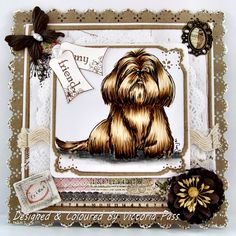 Sticky With Icky: My Crafty Heart DT Card - Lhasa Apso!!! be still my heart.