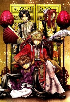 Tags: Anime, Saiyuki, Sha Gojyo, Cho Hakkai, Son Goku (Saiyuki)