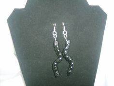 25% off sale use code 25thanku Handmade  Black Clay Bead  earring by SibrinaCreations on Etsy, $4.00