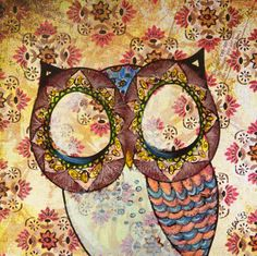 Owl Art Original Ink Drawing Mixed Media On Paper - Where Quiet Things Belong on Etsy, 30,00$