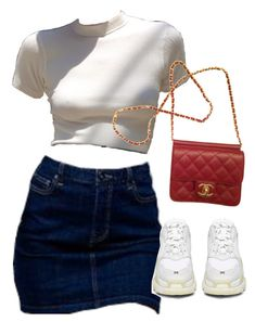 A fashion look from November 2017 featuring balenciaga shoes and chanel handbags. Browse and shop related looks. Cute Casual Outfits, Chic Outfits, Summer Outfits, Girl Outfits, Fashion Outfits, Polyvore Outfits, Look Girl, Teen Fashion, Womens Fashion