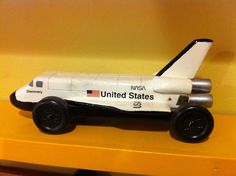 Pinewood Derby car ~ NASA space shuttle