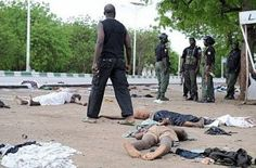 Boko Haram, Terrorists group on yesterday June 22nd attacked villagers in Borno state, and thereafter, burnt houses and slit the throats of 20 villagers including Women.