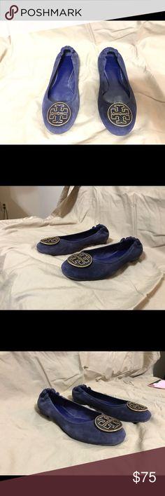 Tory Burch Suede Ballet Flats Tory Burch Blue Suede Ballet Flats. Gently used. Size 7 M. Tory Burch Shoes Flats & Loafers