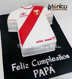 TORTA CAMISETA DE PERU, con detalles personales y unicos, elaborado por MONICA PASTAS Y DULCES