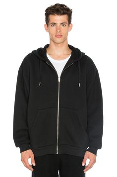 Alexander Wang Vintage Fleece Hoodie Black - Tops