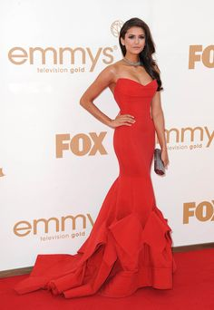 Red Nina Dobrev Dress Highly Praised at Emmy Awards Evening Dress Kadisua Backless Long Celebrity Dresses Red Carpet Dresses Donna Karan, Evening Dress Long, Evening Dresses, Prom Dresses, Mermaid Dresses, Dress Prom, Mermaid Gown, Luulla Dresses, Formal Dresses