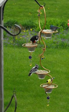 Bird feeder - made from a candle holder