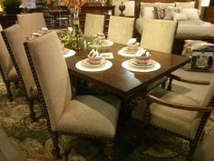 Love This Dining Collection Feels Easy Comfortable And Beautifully Formal All At The Same Time