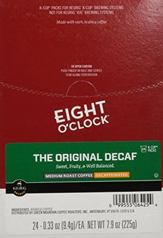 Eight OClock Coffee Original Decaf KCups  24 ct >>> Click on the affiliate link Amazon.com on image for additional details.