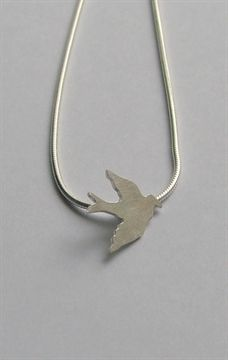 Dove pendant by Leoma Drew Jewelry Design, Designer Jewellery, St Ives, Swallow, Pendant, Cornwall, Swallows, Hang Tags, Pendants