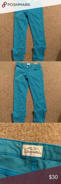 Aeropostale jeans Aeropostale turquoise jeans size 1/2 Aeropostale Jeans Skinny