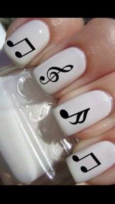 Piano=Love I'm thinking one nail with a music note!