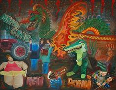Mardi Gras - by Laura Barbosa from Parades art exhibit
