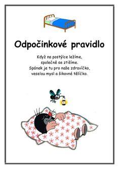 Krtkova Pravidla :: Msbystrice Feelings Preschool, Teacher Hacks, Games For Kids, Motto, Montessori, Kindergarten, Language, Education, Memes