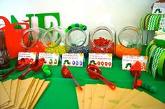 The Very Hungry Caterpillar birthday party food! See more party ideas at CatchMyParty.com!