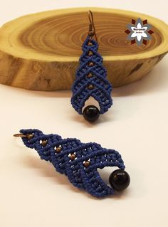 Tutorial: Blue step beaded earring