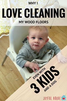Why I LOVE Cleaning My Wood Floor  - http://www.joyfulabode.com/love-cleaning-wood-floor/ We finally ripped the carpet out of our dining room, and replaced it with wood. I'm SO thankful to have such an easy-to-clean floor in there that I don't mind cleaning it every day. (Or almost every day).  #powerpair #ad