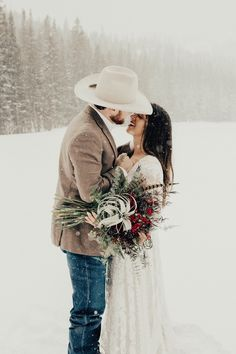 Another gorgeous winter wedding shot! Another gorgeous winter wedding shot! Another gorgeous winter wedding shot! Winter Wedding Attire, Winter Wedding Receptions, Snow Wedding, Maroon Wedding, Cowboy Wedding Attire, Cowboy Weddings, Barn Weddings, Outdoor Weddings, Winter Weddings