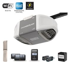 1-1/4 HPS Smartphone Controlled Durable Chain Drive Garage Door Opener with Battery Backup and MAX Lifting Power