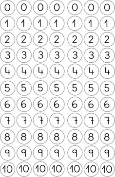 bingo dot numbers 0-10