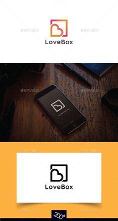 Love Box Logo - Objects Logo Templates