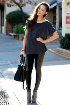 Legging outfit inspiration via Hapa Time.
